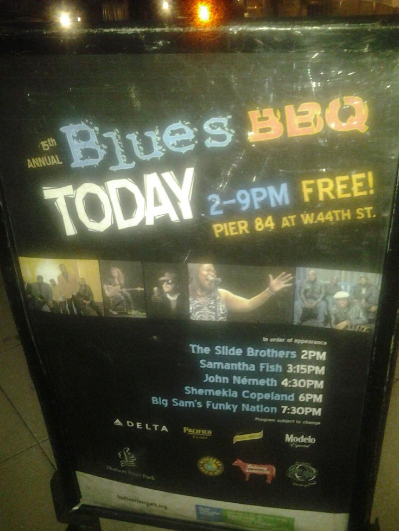Blues BBQ Event Poster